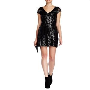Black sequin party dress worn 1x like new